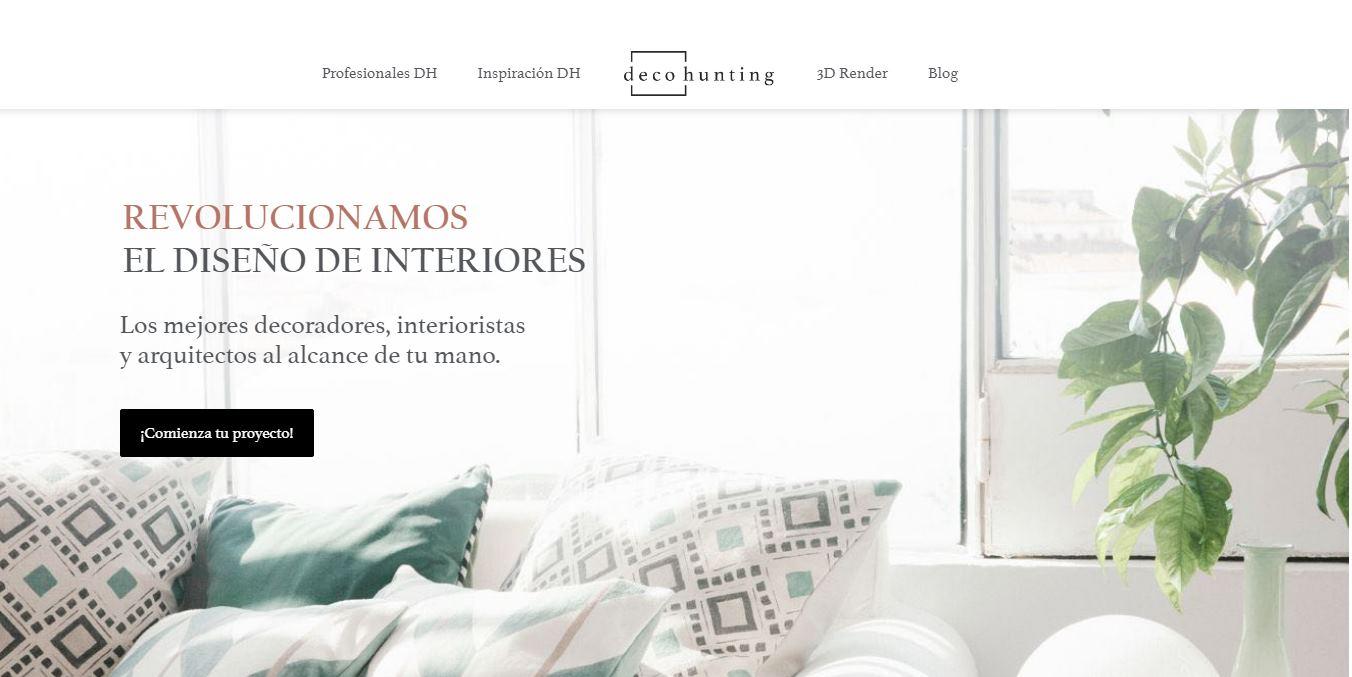 Decohunting, una nueva plataforma para encontrar decoradores, interioristas y arquitectos