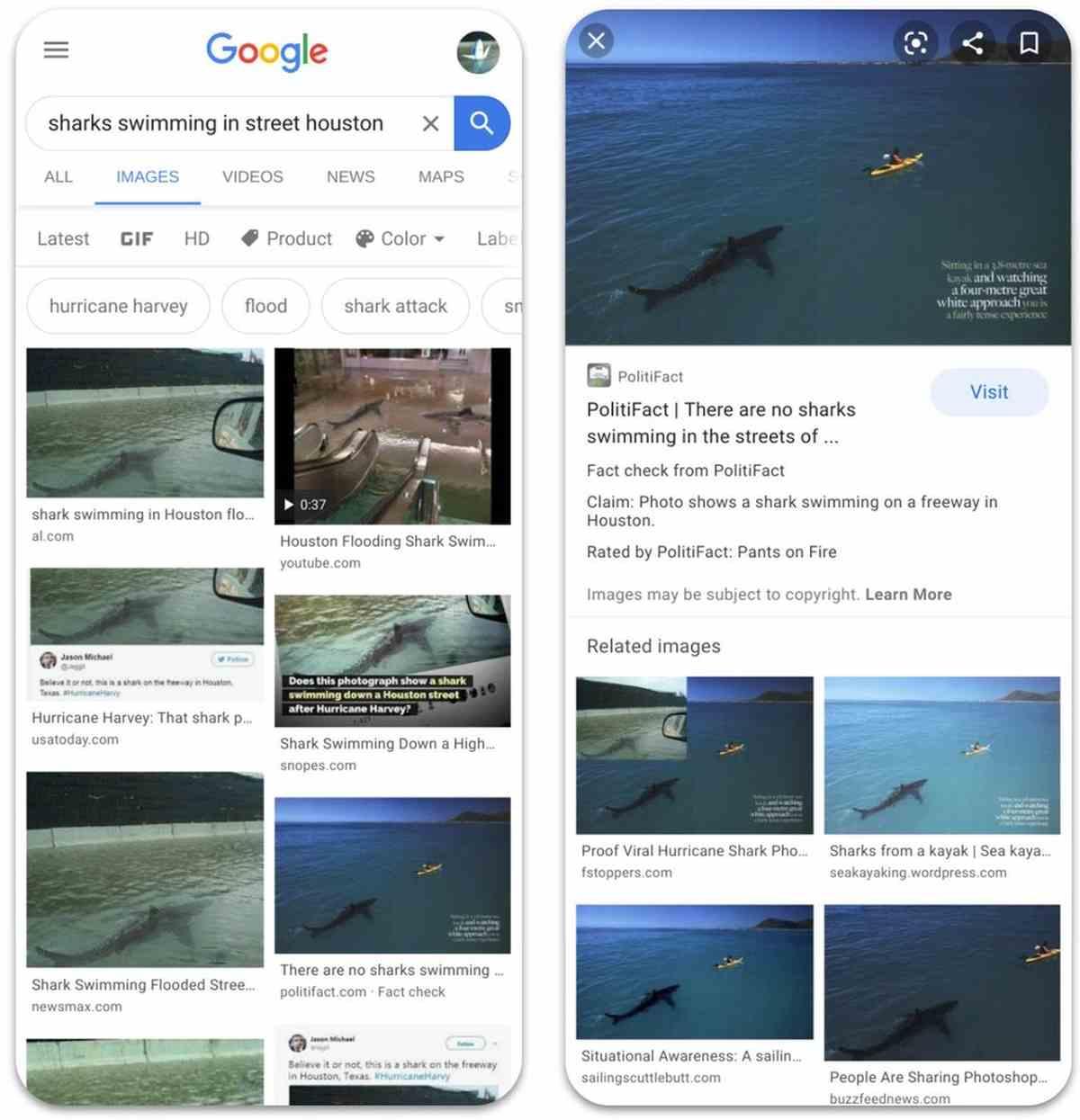 Google extiende la verificación de hechos a las búsquedas de imágenes