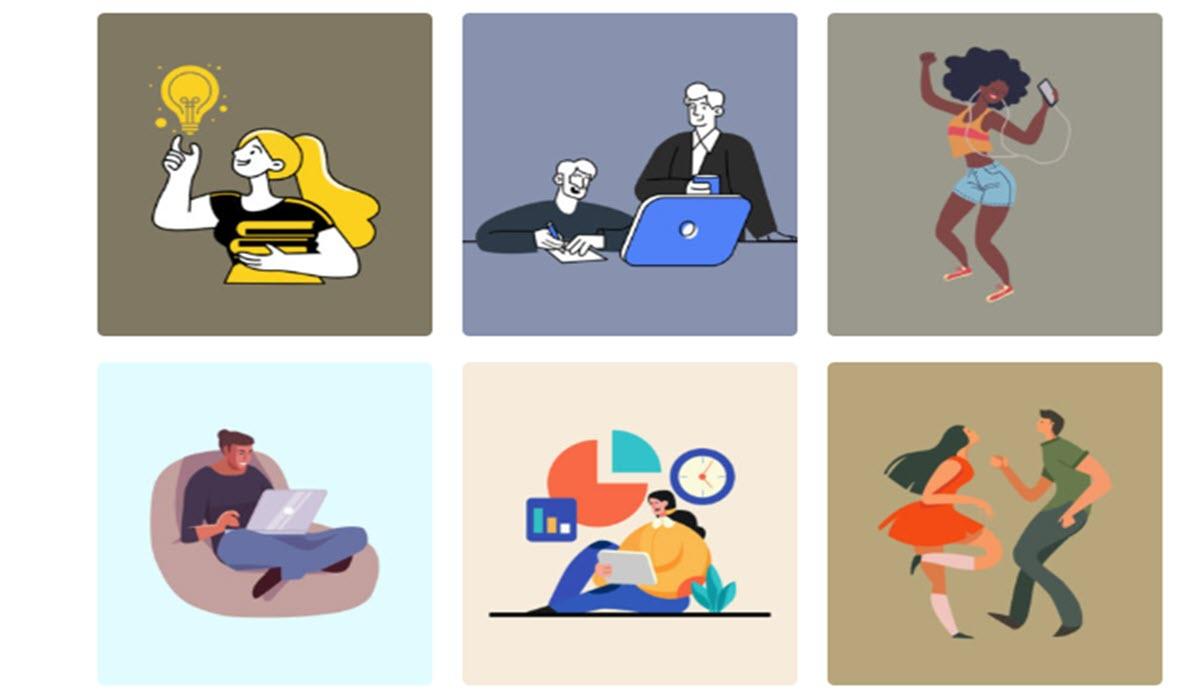 Colecciones de ilustraciones y vectores para descargar en forma gratuita