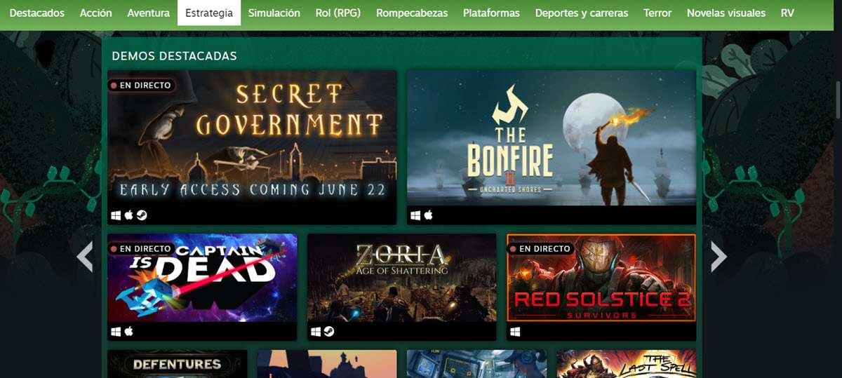 Más de 900 demos de videojuegos para probar en tu ordenador gracias a Steam