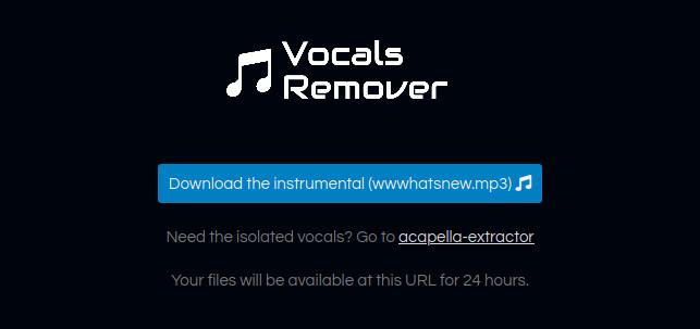 Vocals Remover