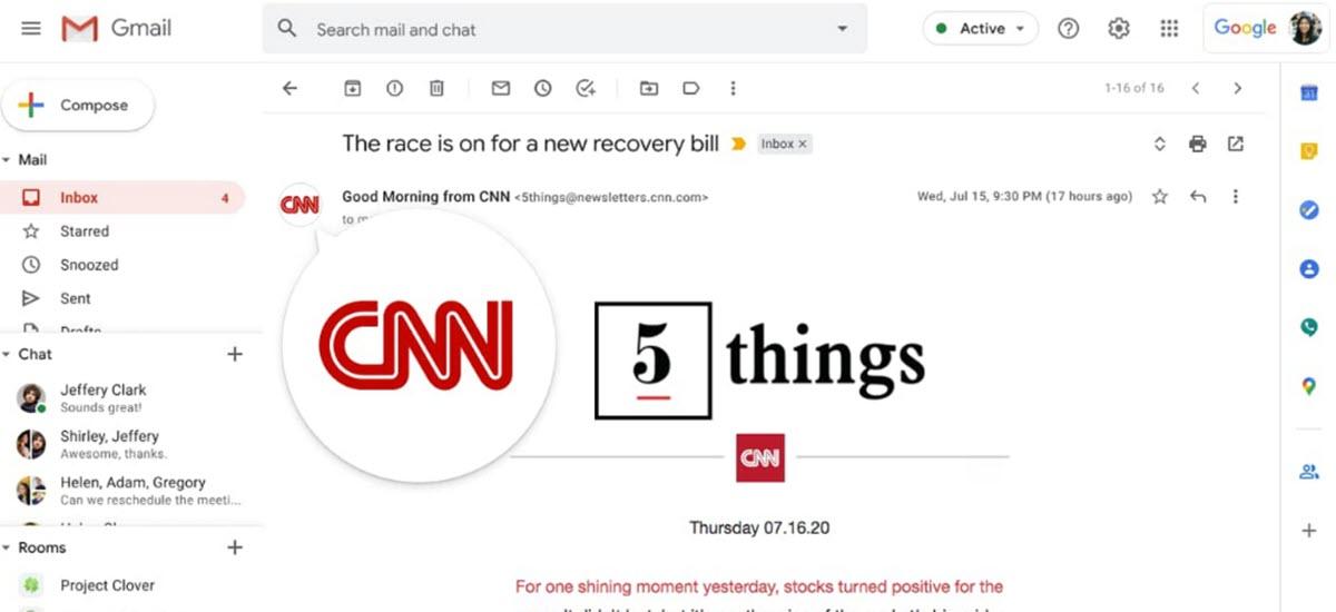 Gmail prueba la verificación de marcas para evitar ataques de phishing