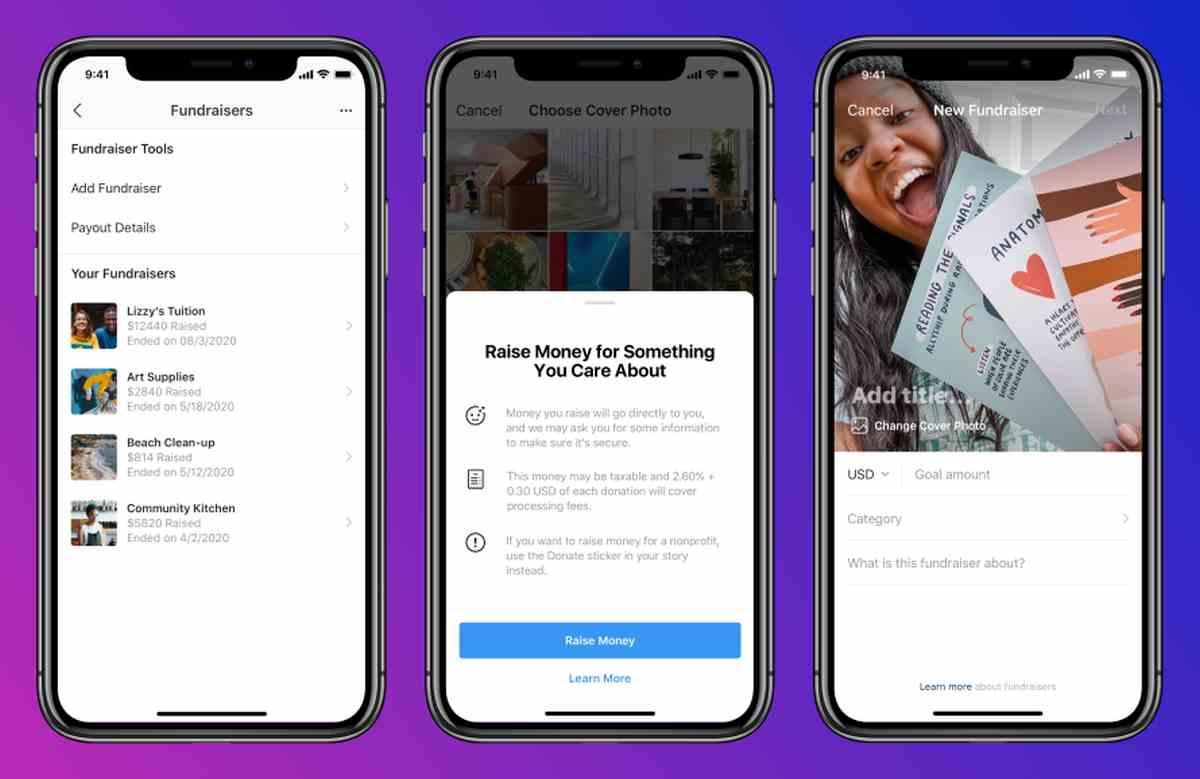 Instagram prueba nueva herramienta para recabar fondos para causas personales