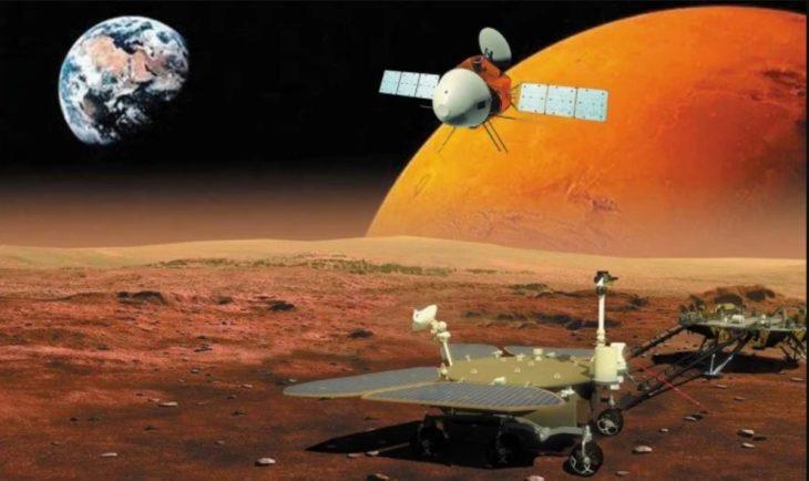 nave espacial china tianwen 1 con destino a marte