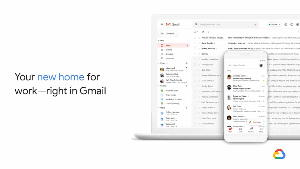 Filtran imágenes del rediseño de Gmail para G Suite con integraciones de productividad
