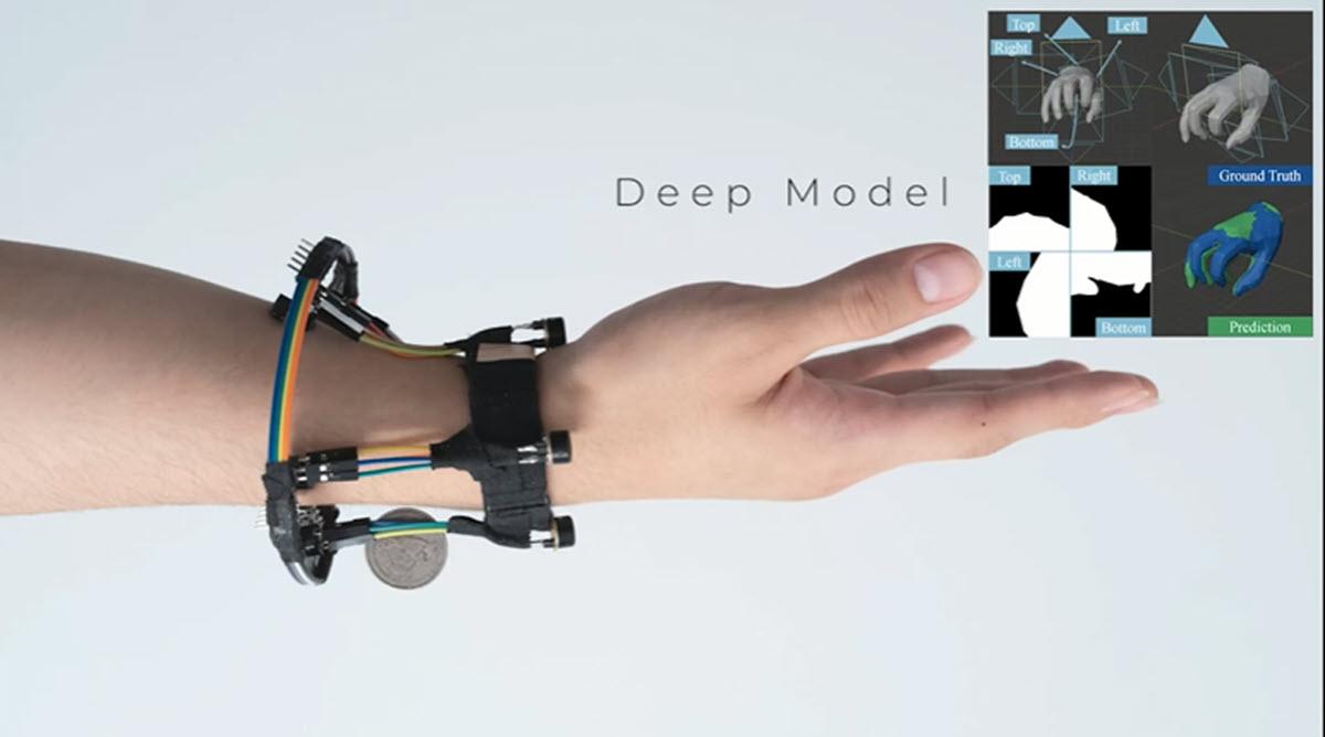 Esta pulsera utiliza cámaras térmicas para recrear en 3D la postura de la mano