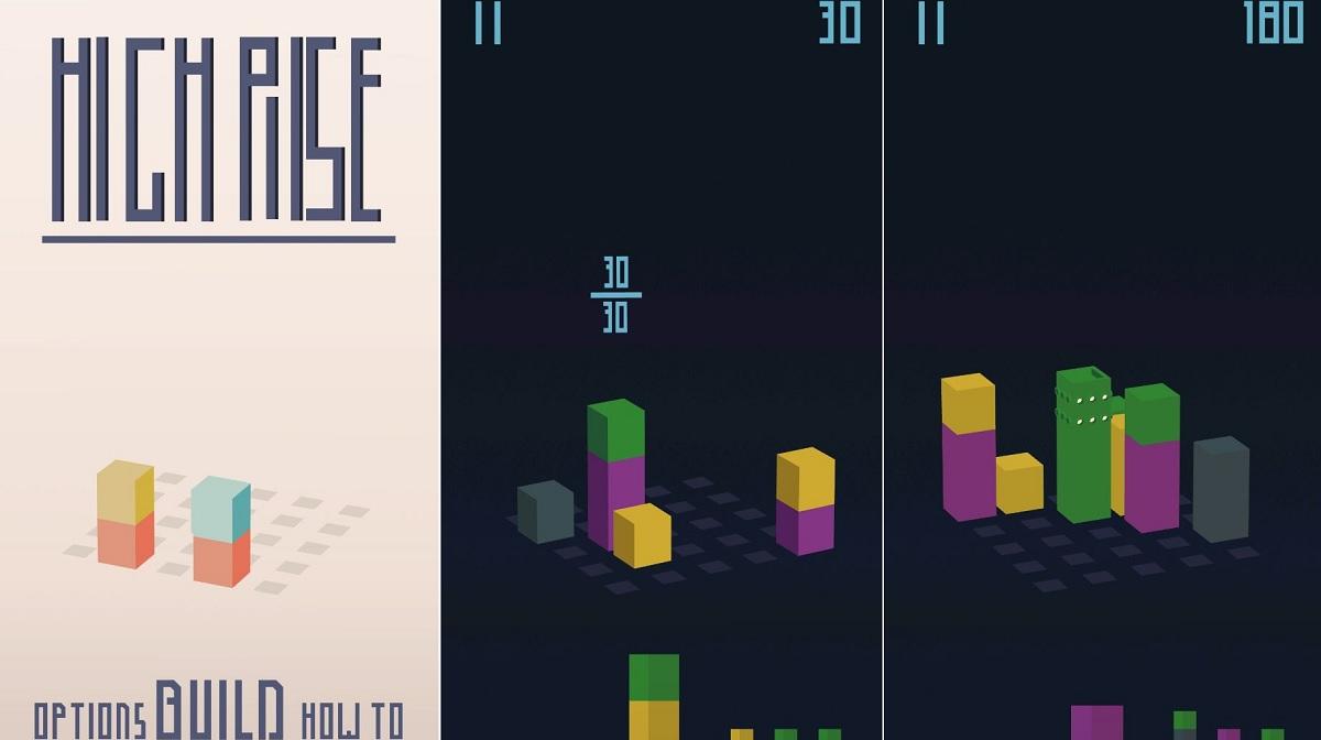 High Rise, un videojuego de rompecabezas en 3D para crear edificios cada vez más altos