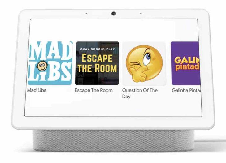 Juegos interactivos en dispositivos Nest Hub
