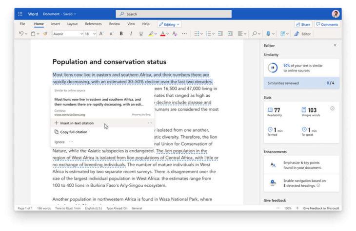 Microsoft Word tendrá una nueva función que te ayudará en el proceso de escritura