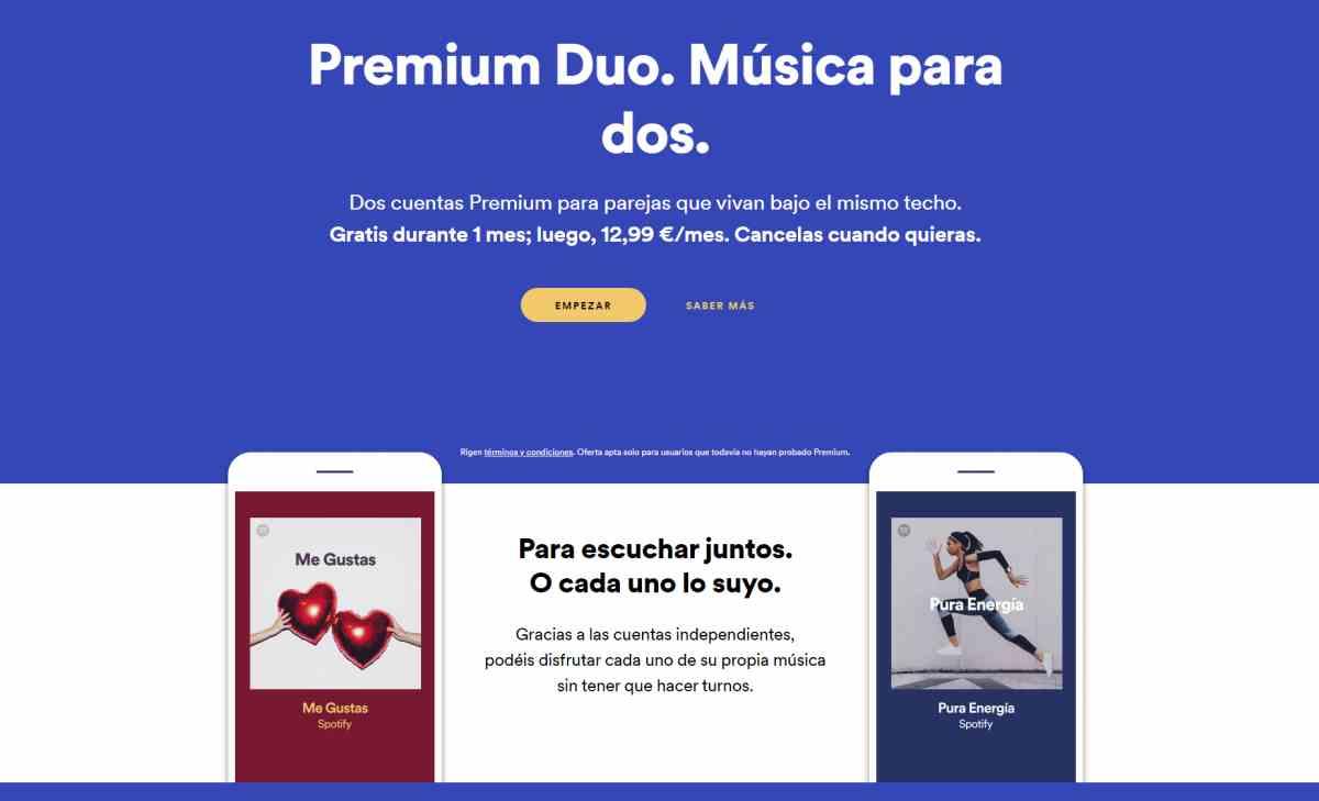 Spotify lanza oficialmente su suscripción Premium para parejas