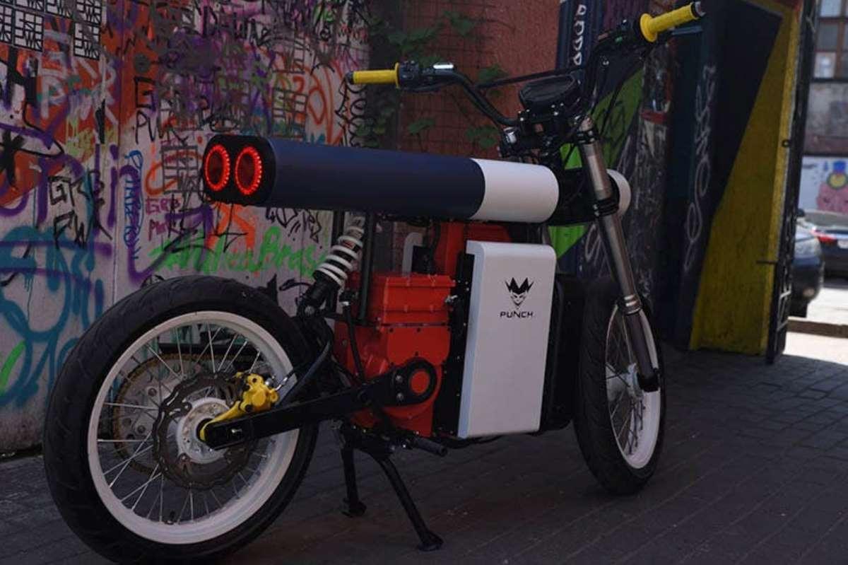 Punch Moto, la motocicleta eléctrica que parece fabricada con piezas de LEGO