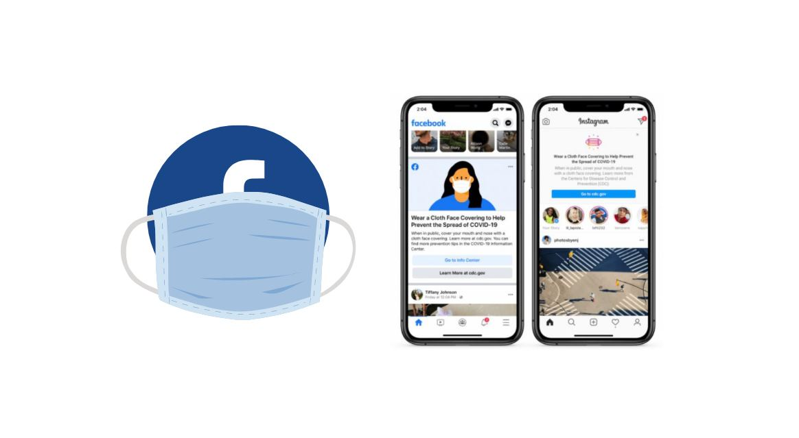 Facebook e Instagram te recordarán todo el rato que uses mascarilla