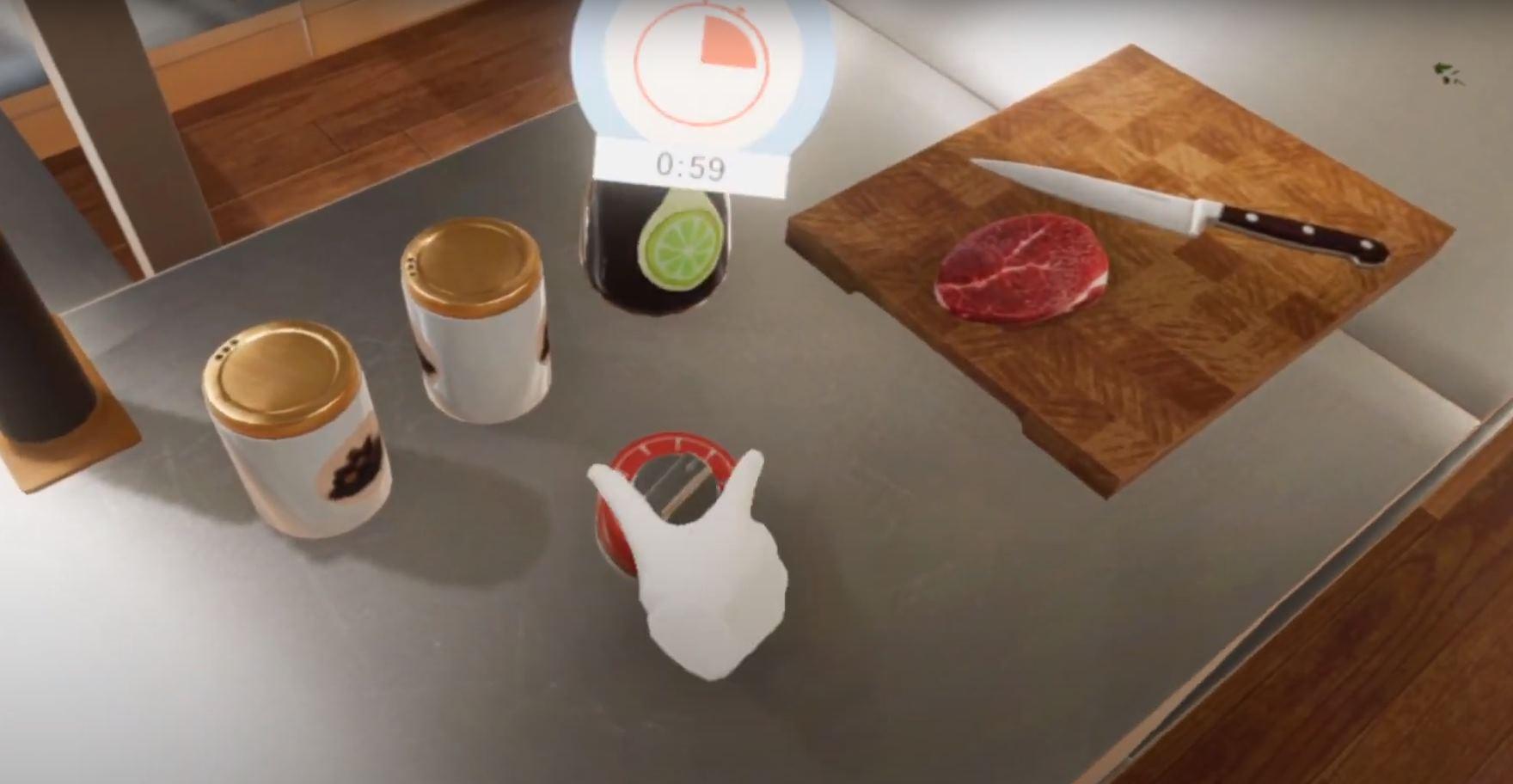 Realidad Virtual para aprender a cocinar