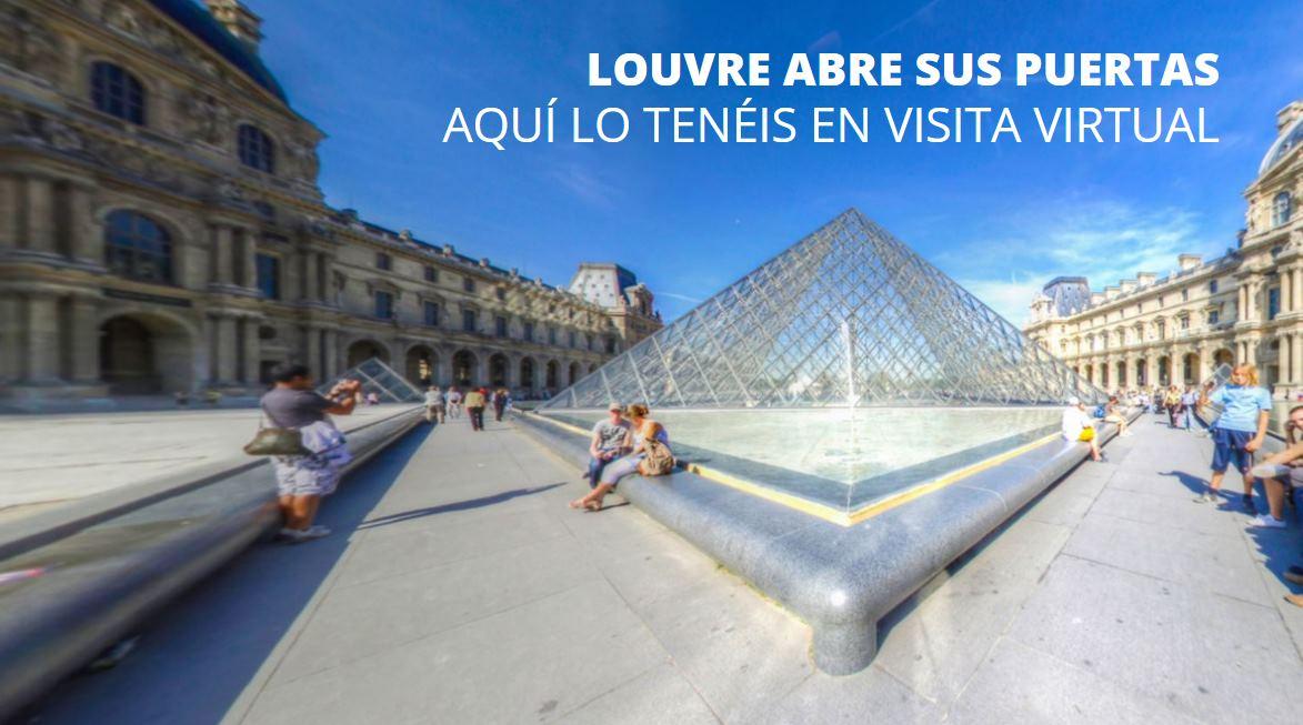 El Louvre abre sus puertas, aquí podéis hacer el recorrido virtual
