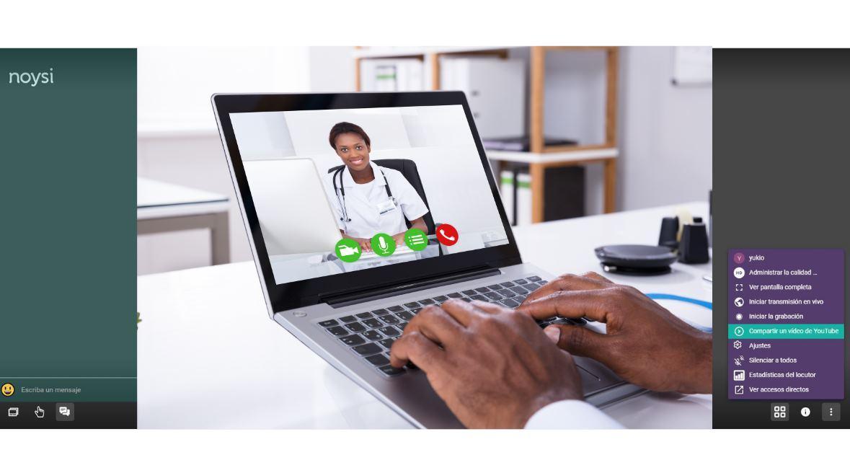 Las videoconferencias de noysi, gratuitas, sin límite de tiempo y sin registros