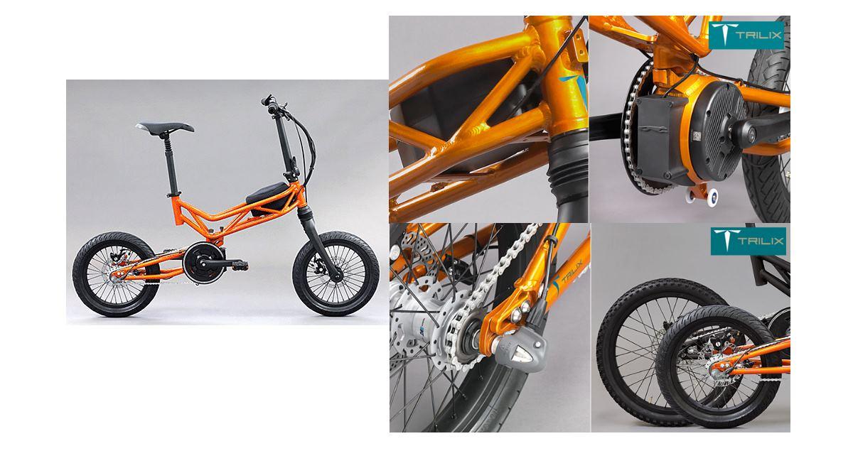 Trilix, la bicicleta eléctrica plegable con autonomía de 120 km