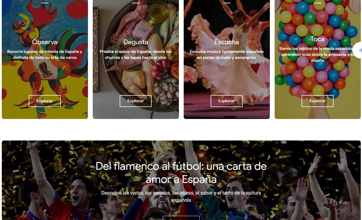 Google presenta una web dedicada a la cultura en España