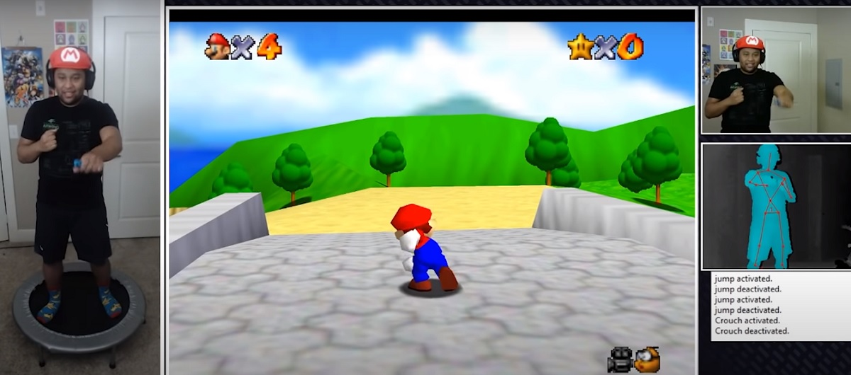 El mod de Super Mario 64 para hacer ejercicio mientras juegas