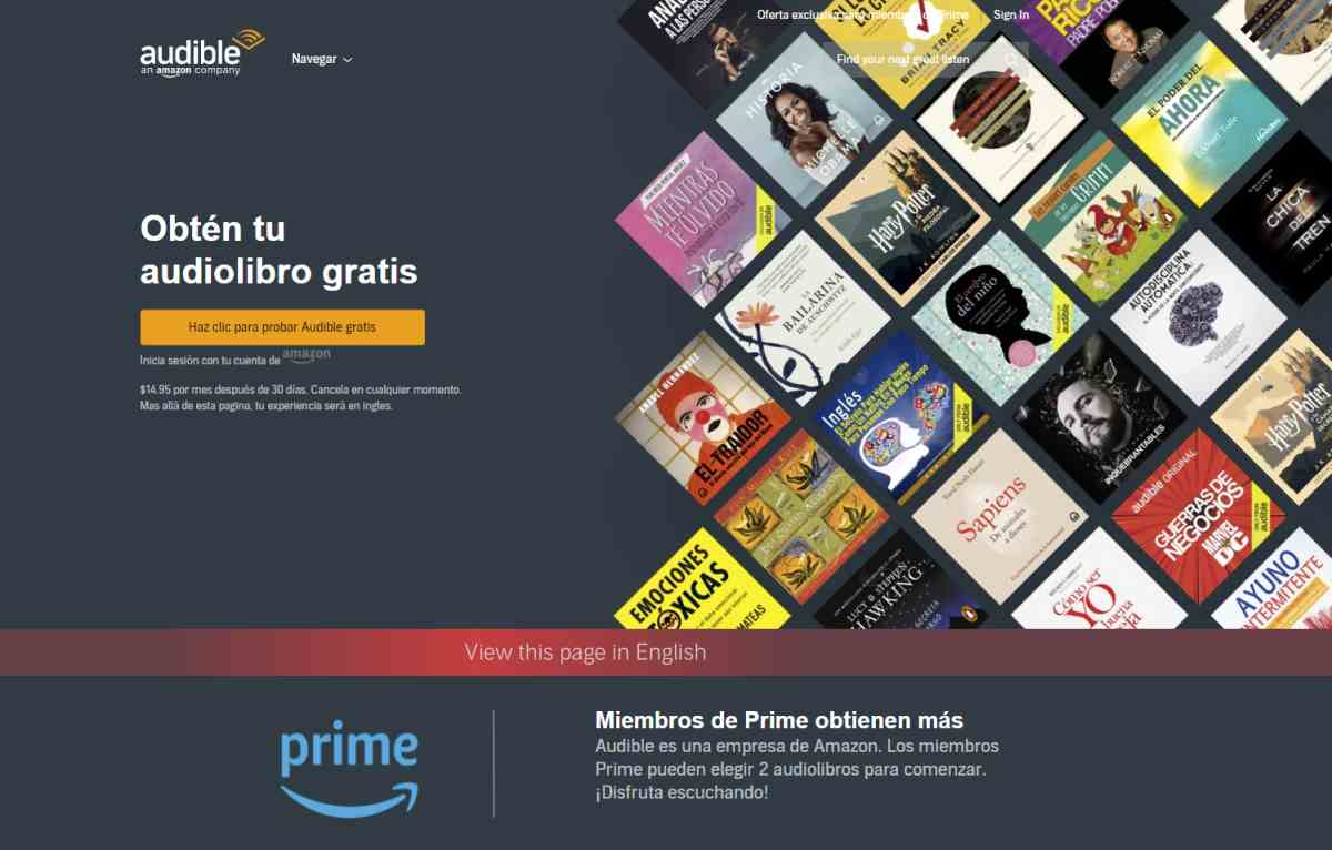 Audible, el «Netflix» de podcasts y audiolibros de Amazon, lanzará un plan más asequible