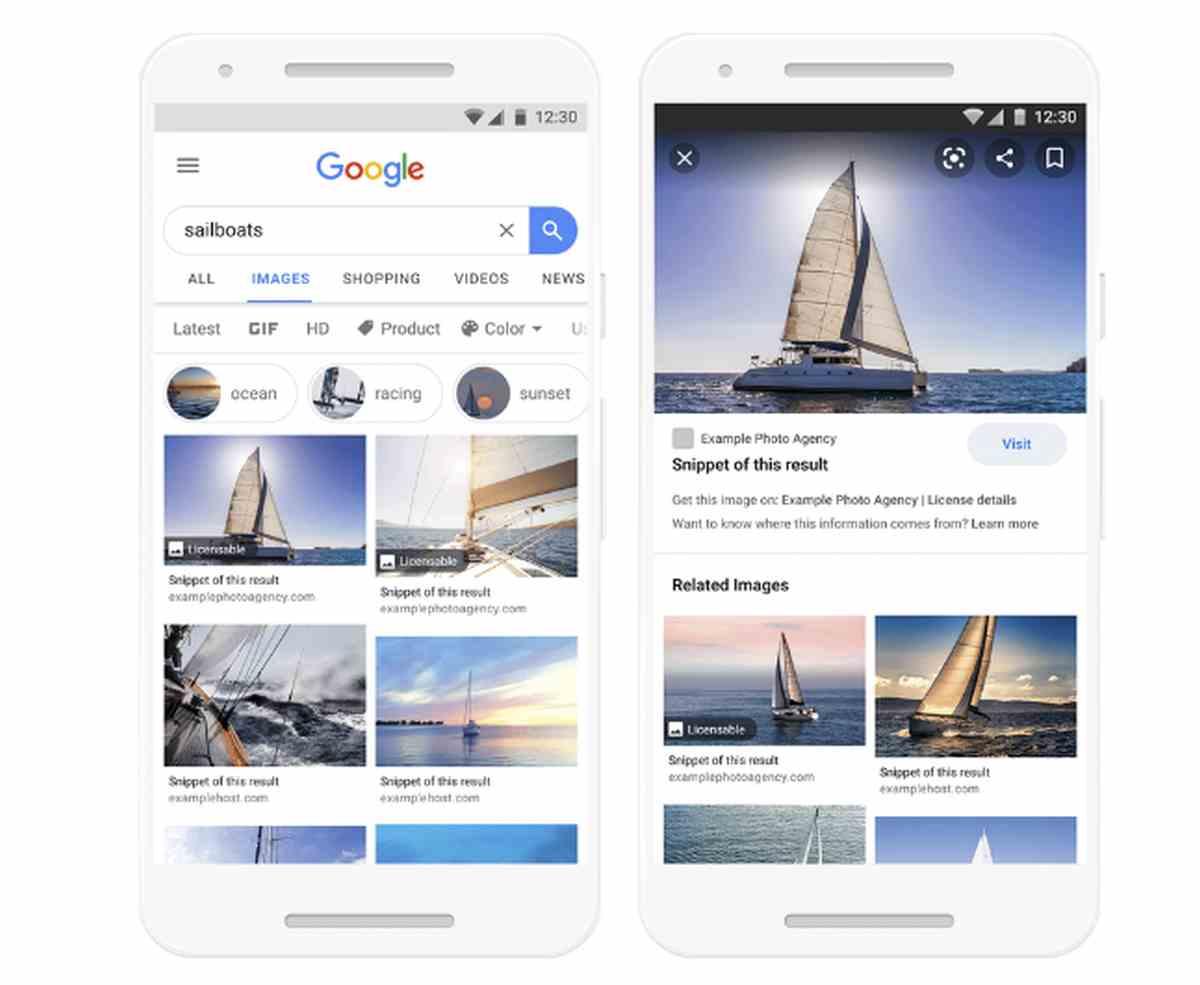 Google facilitará la búsqueda de imágenes con licencias y obtención de sus permisos de uso