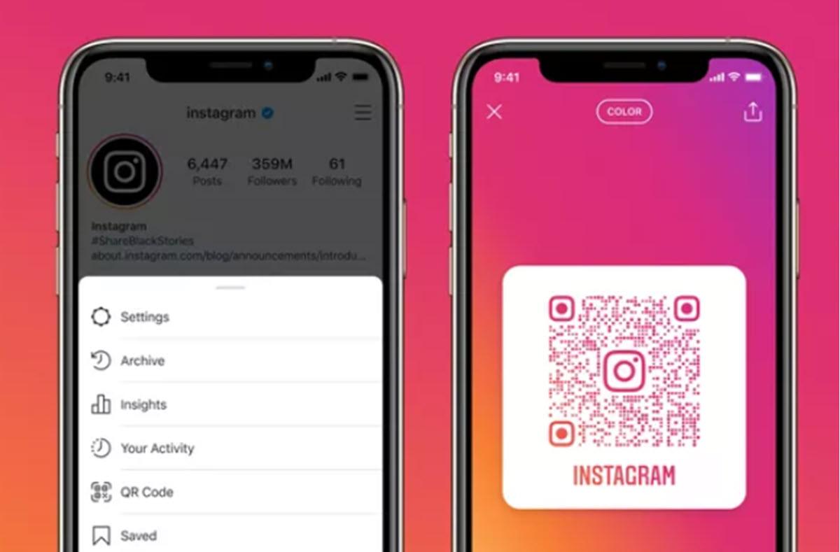 Instagram ahora permite compartir y abrir cualquier perfil con un código QR