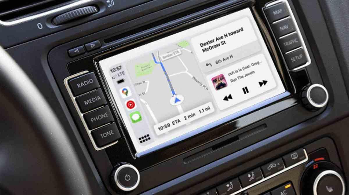 Google Maps en el panel CarPlay de Apple