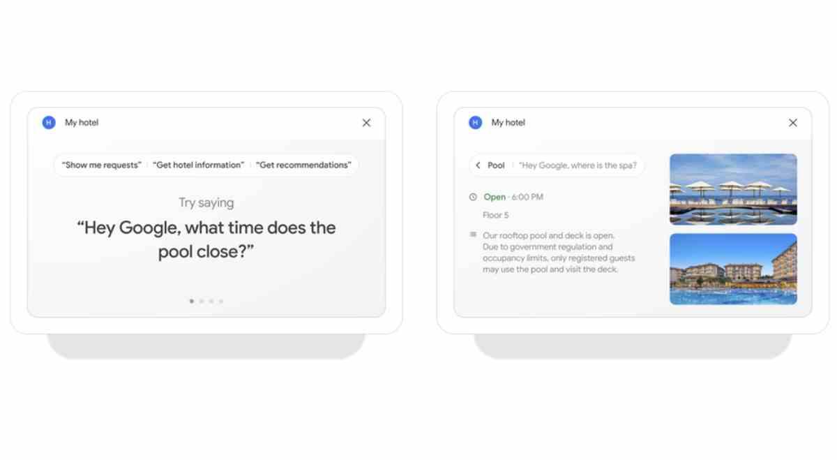Google lleva una serie de funciones a sus pantallas inteligentes para los hoteles