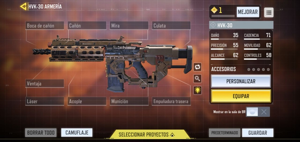 Personalizar armas en Call of Duty Mobile