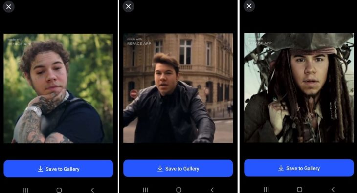 REFACE app para intercambiar rostros