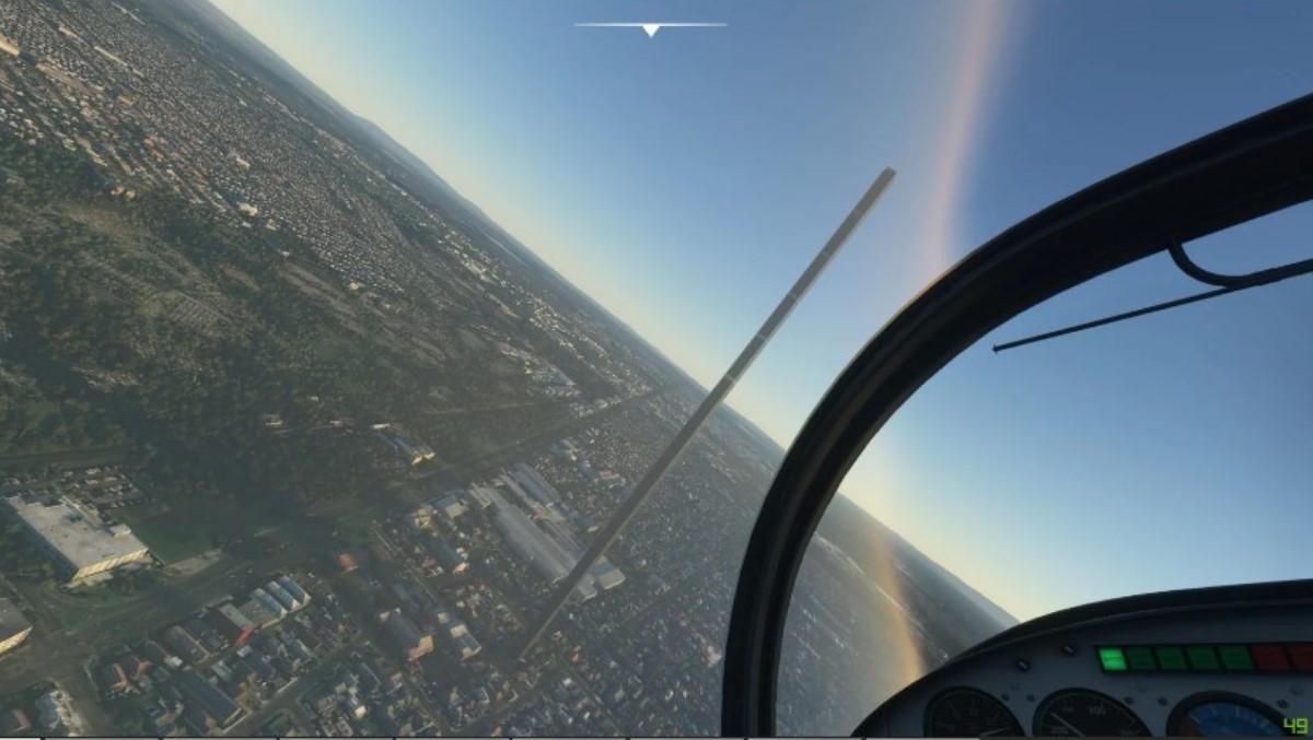 rascacielos de 212 pisos en microsoft flight simulator