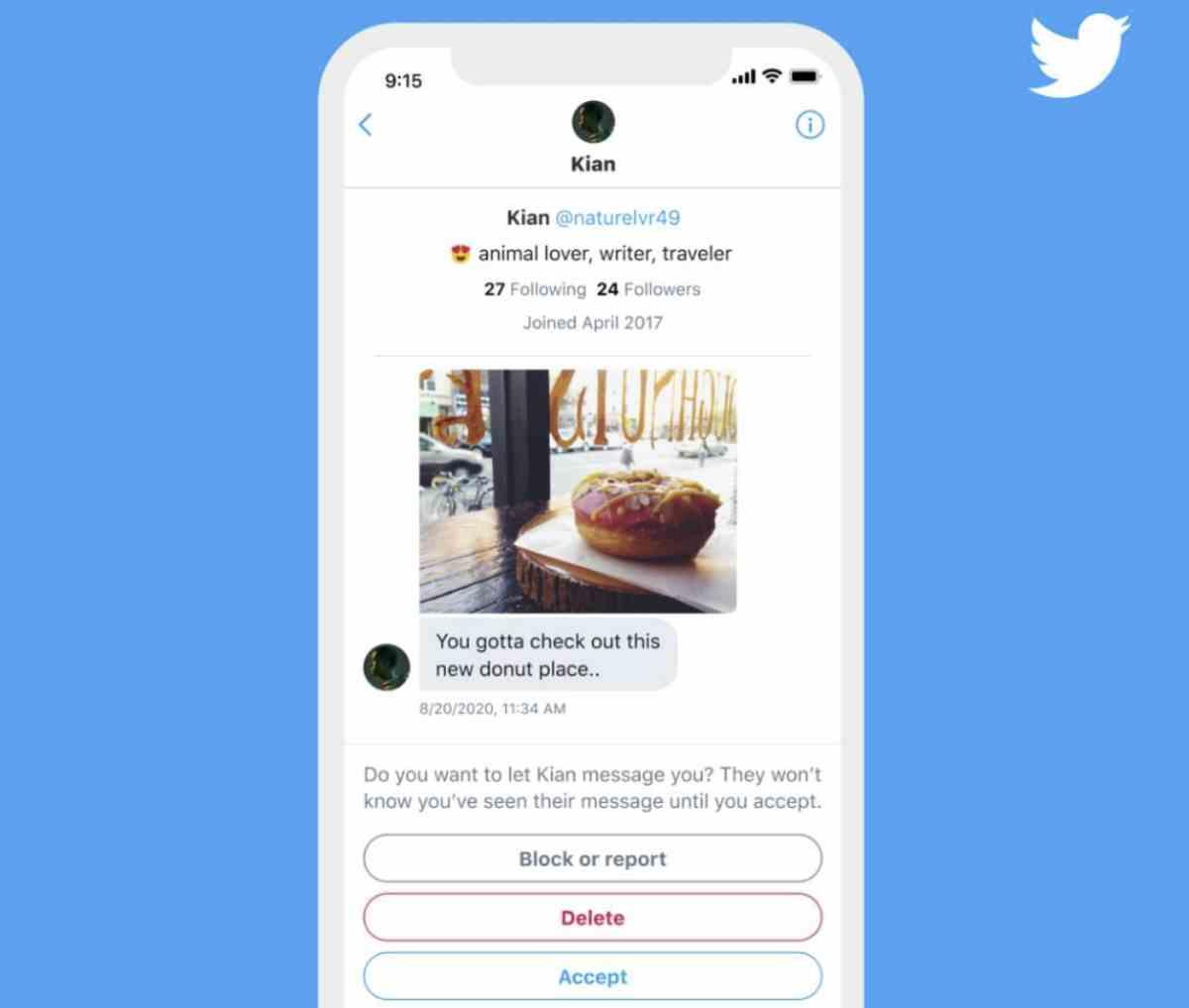Twitter ofrecerá información adicional sobre peticiones de mensajes directos de desconocidos