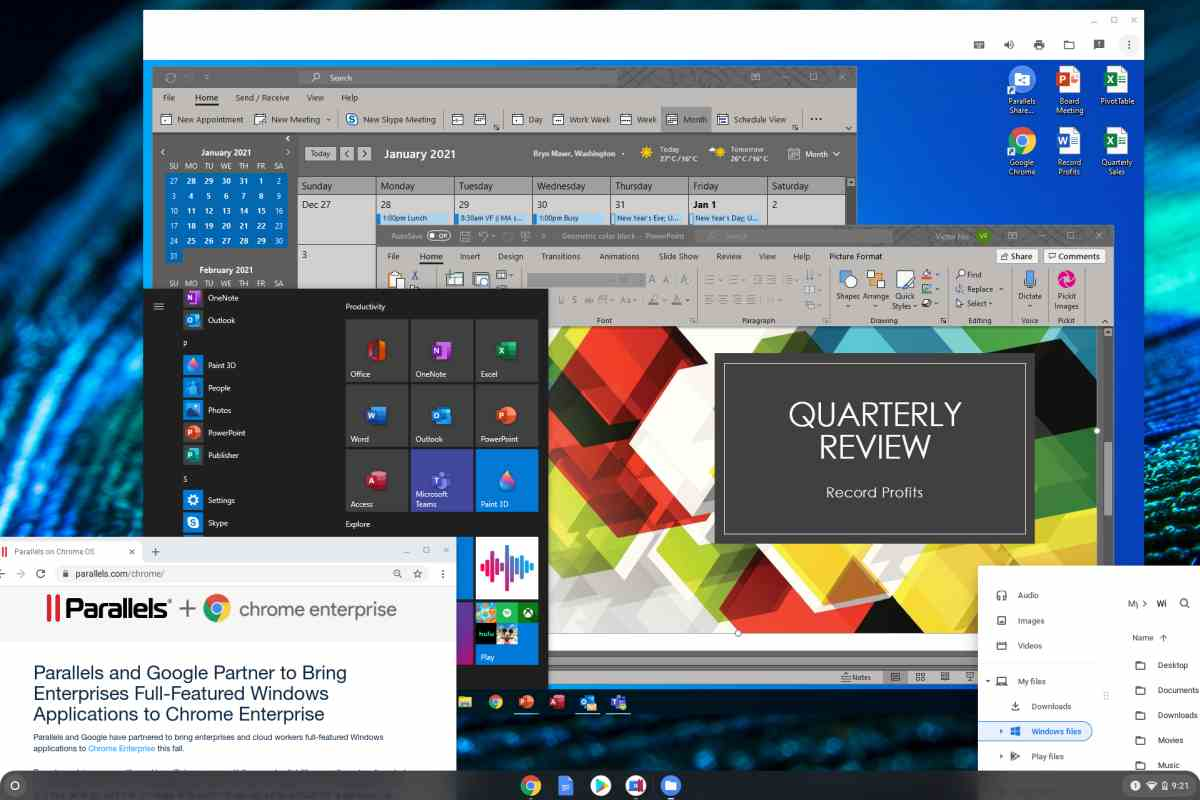 Virtualización de apps Windows en Chrome OS