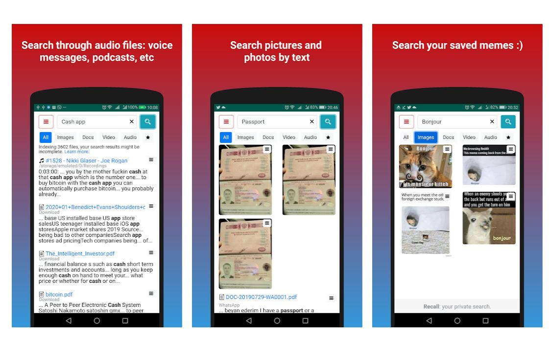 Una app para encontrar contenido en el móvil