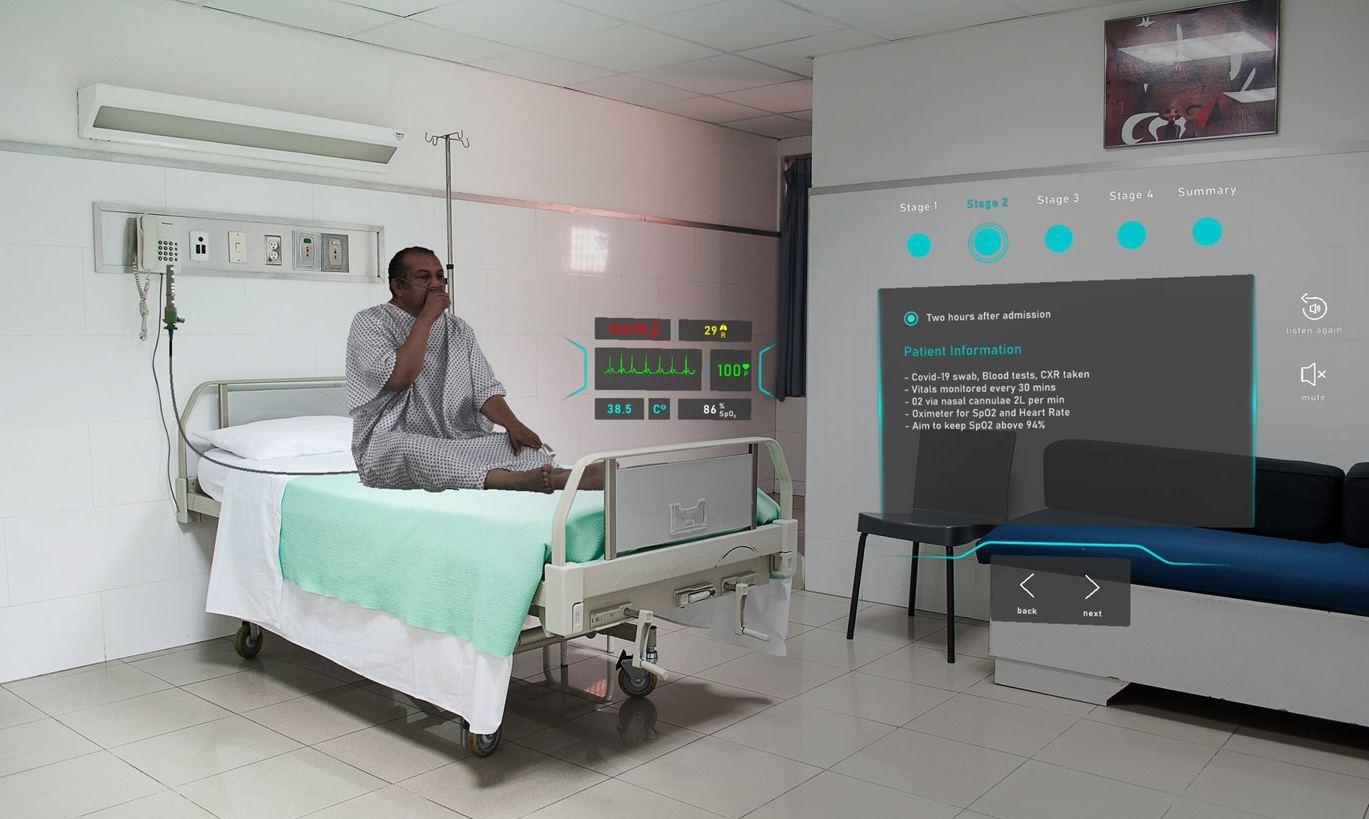 Tecnología para identificar síntomas de COVID-19 evitando contacto
