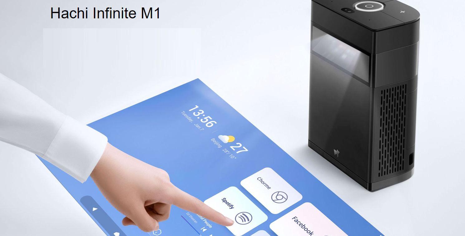 Un proyector que pone una pantalla táctil en nuestra mesa o una película en la pared