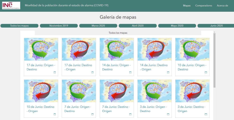 El mapa que muestra cómo nos movemos en España después de rastrear nuestros móviles