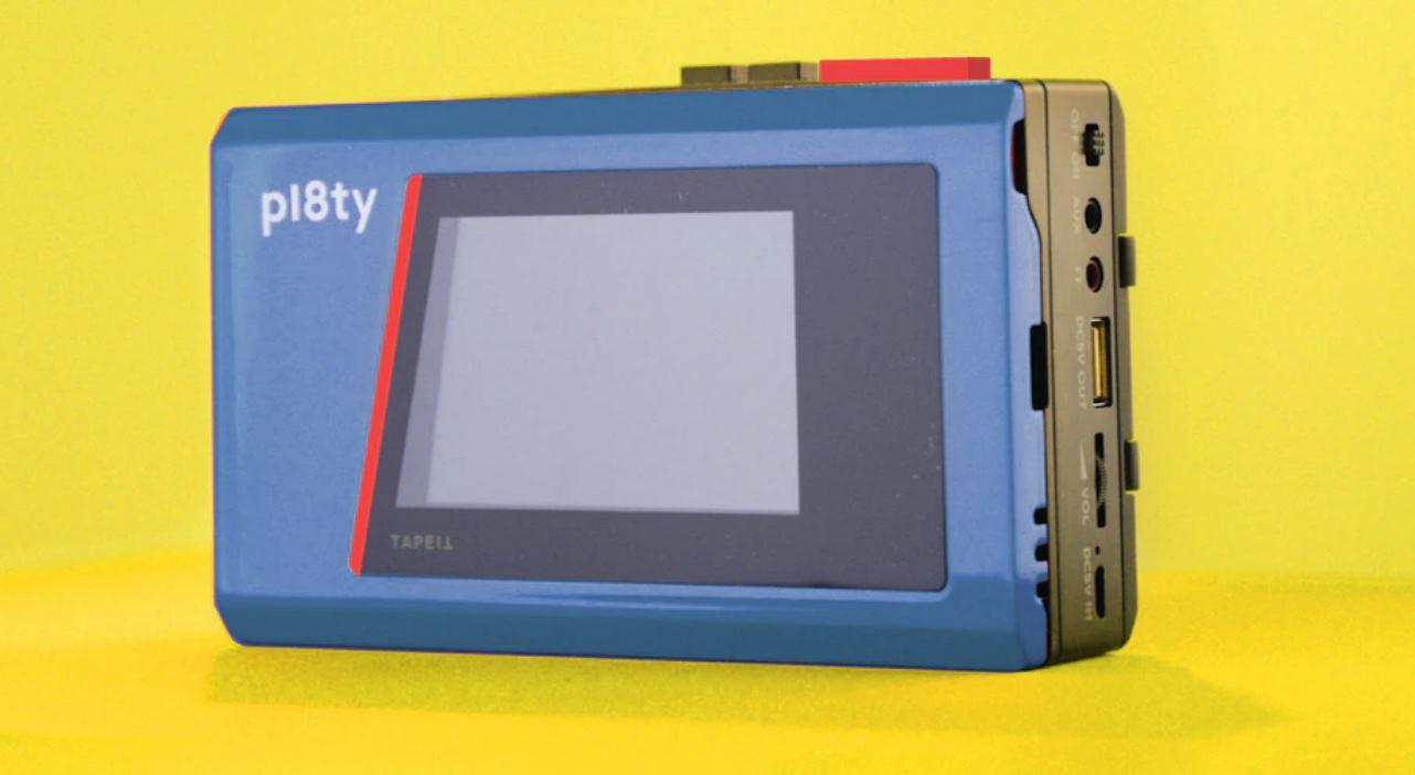 Un altavoz bluetooth, con forma de Walkman, donde meteremos el móvil dentro