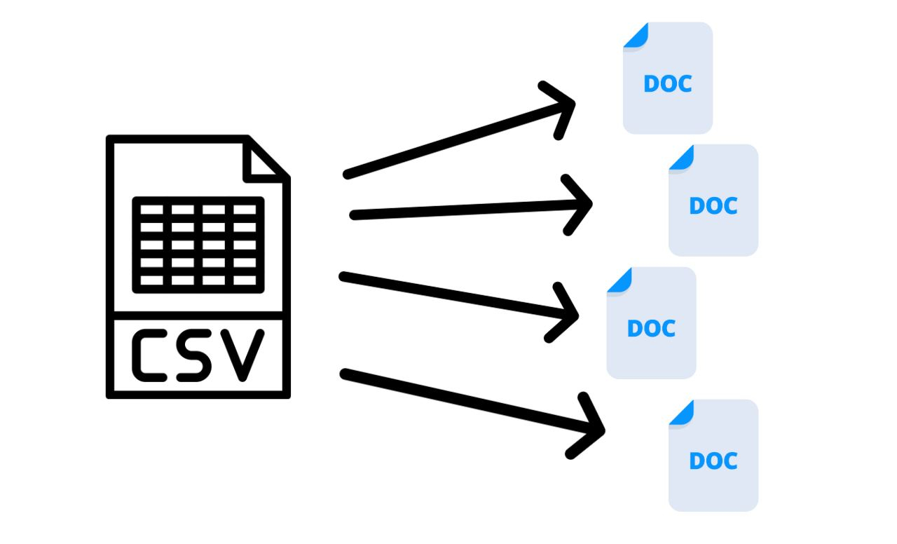 Para rellenar documentos de forma automática a partir de archivos CSV