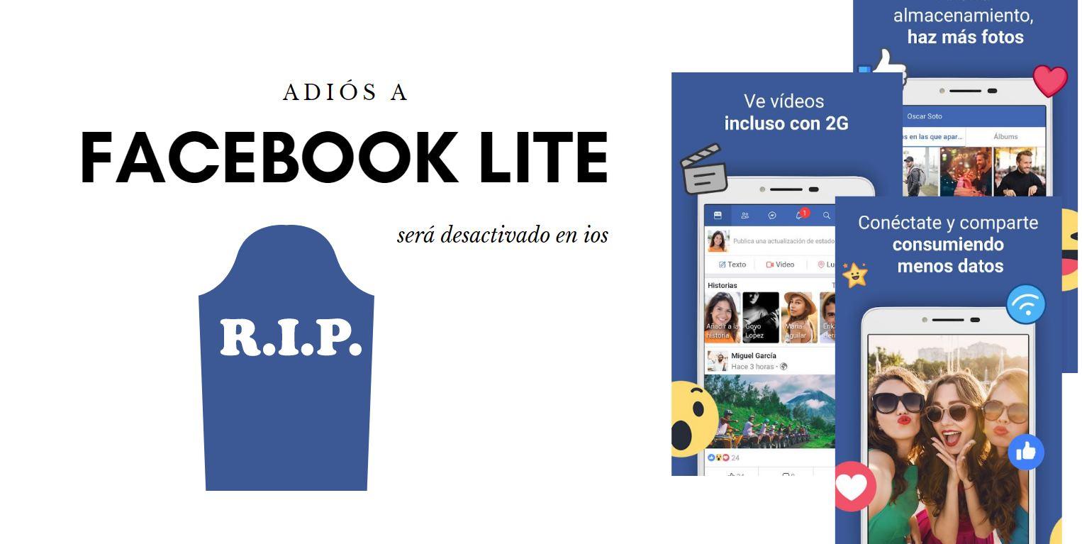 Facebook Lite será desactivado en iOS