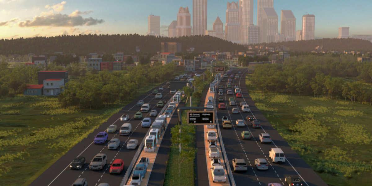 Filial de Alphabet diseñó una autopista para coches autónomos