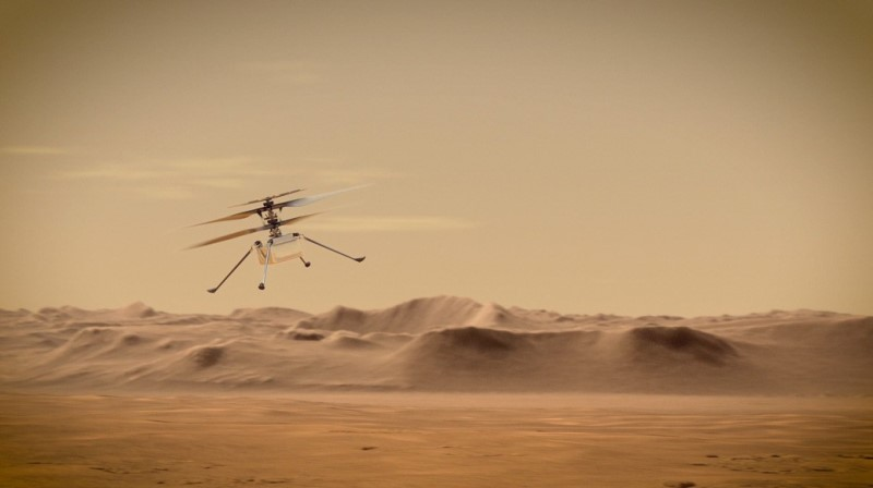 helicoptero espacial mars helicopter ingenuity