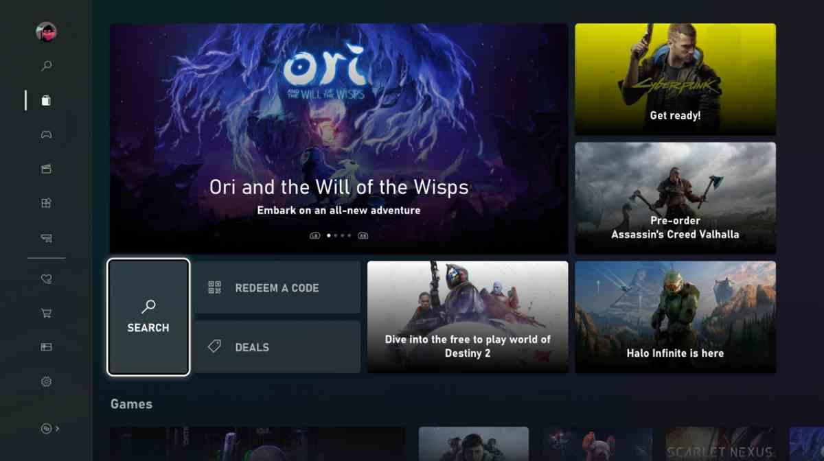 Microsoft Store para la Xbox se renueva por completo antes de la llegada de la Xbox Series X