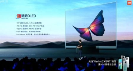 televisor transparente Mi TV LUX Transparente Edition de xiaomi