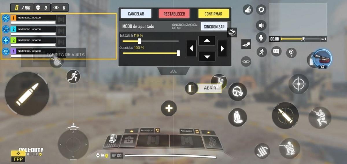 Configuración avanzada CoD Mobile