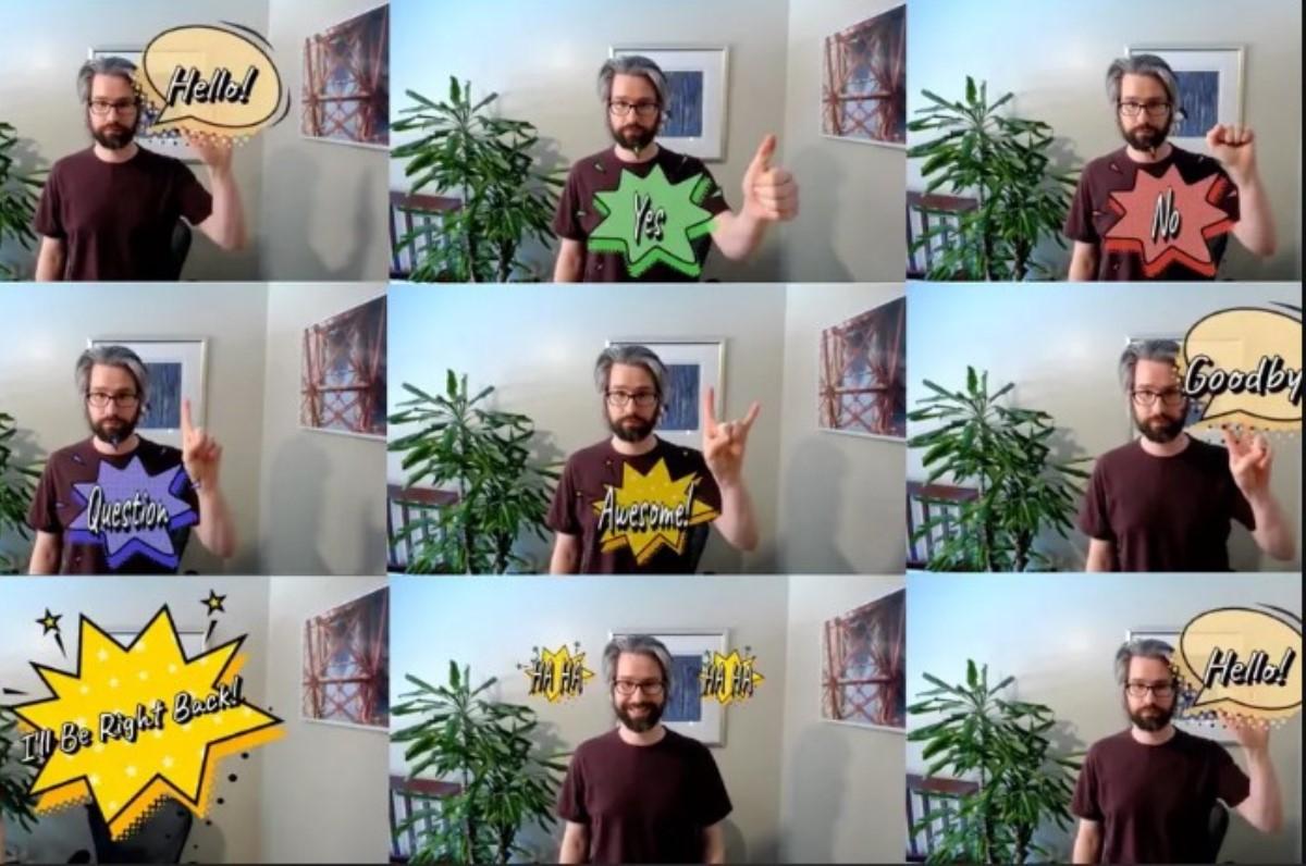 Cómo generar palabras al estilo cómic en tus videollamadas