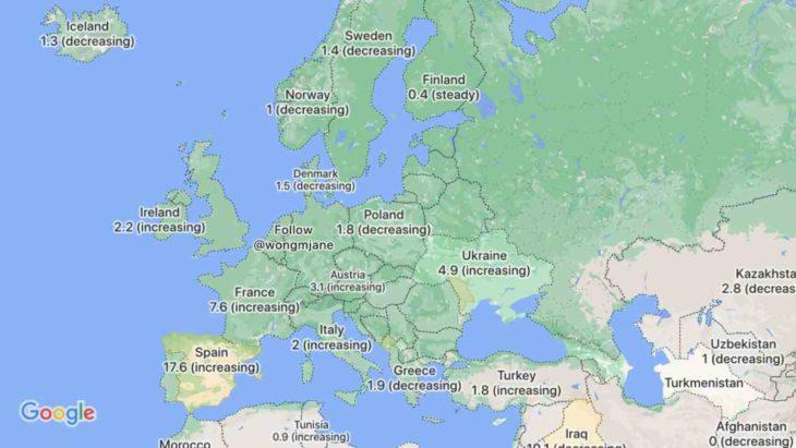 Covid-19 info en Google Maps