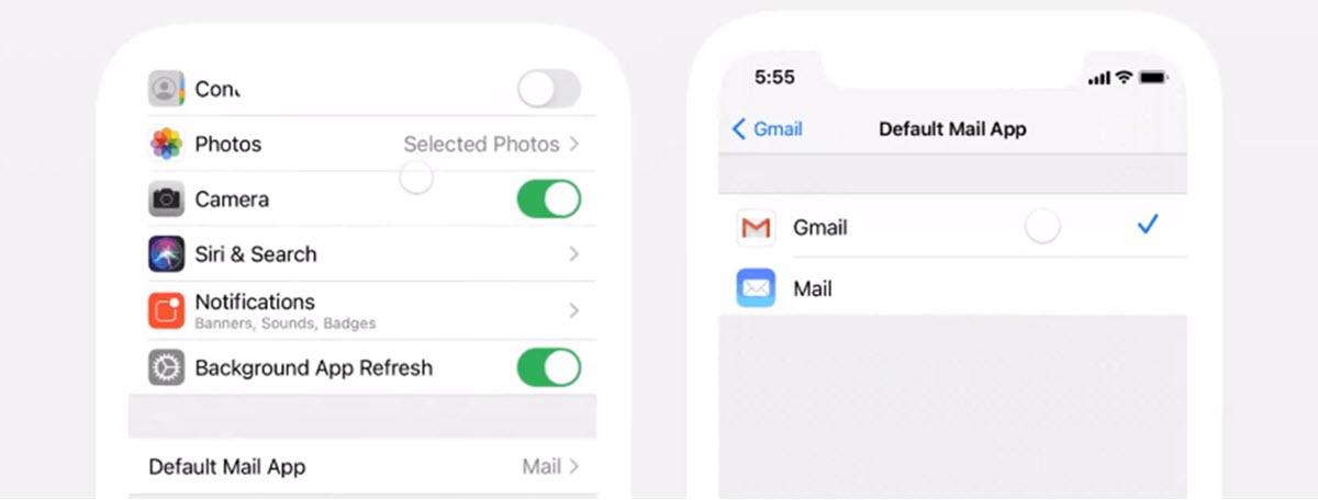 Ya puedes establecer a Gmail como app de correo predeterminada en iOS