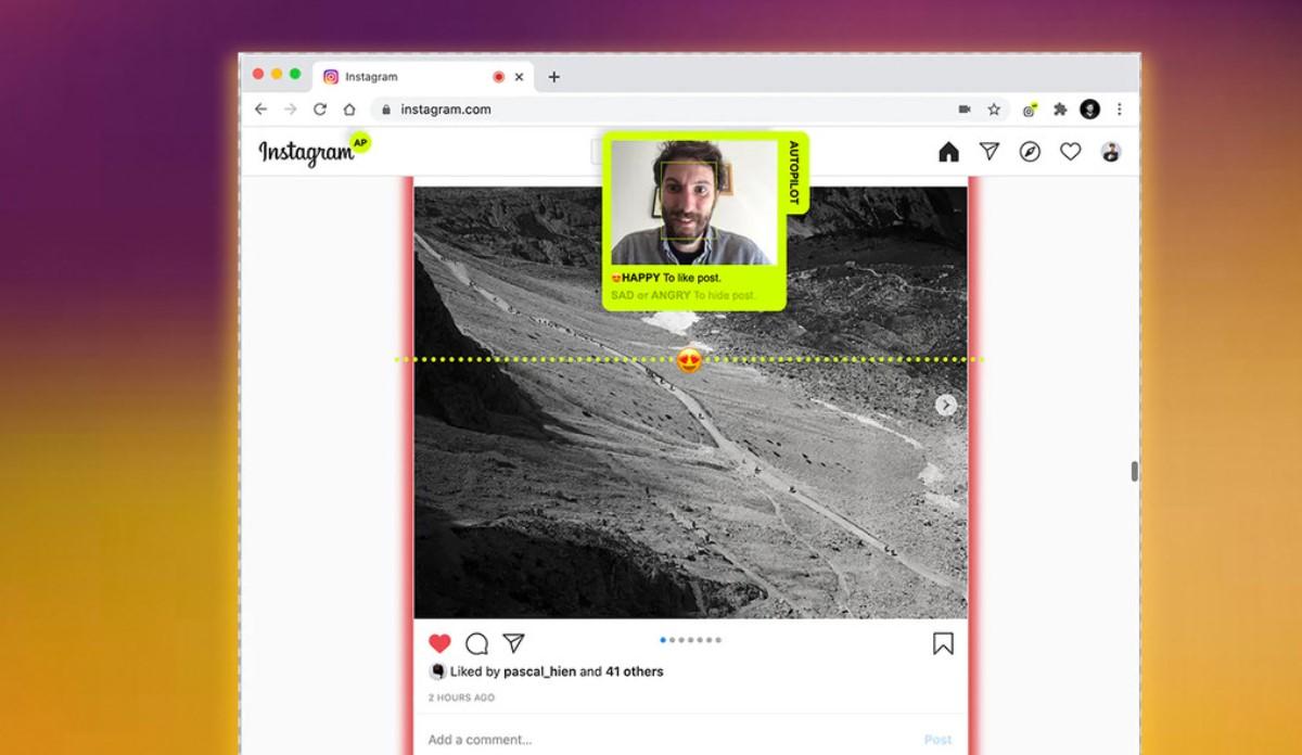 instagram autopilot, extension que hace scroll y da like en instagram