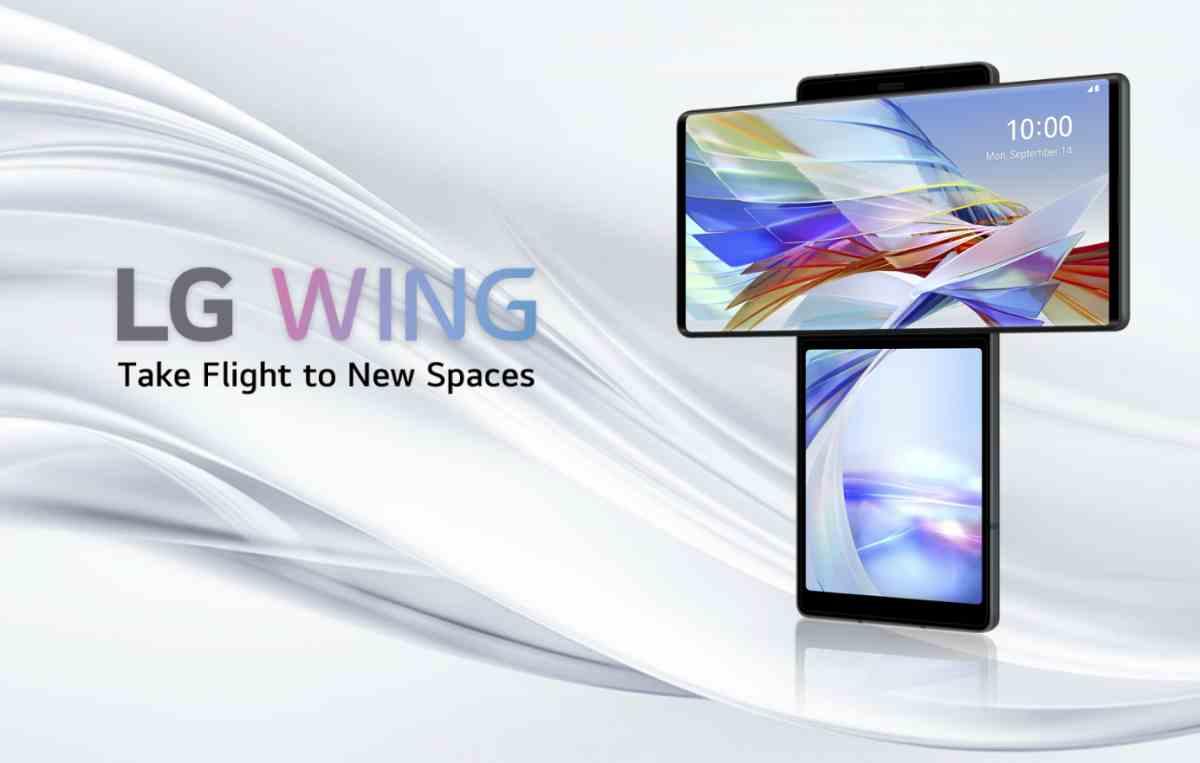 Así es el LG Wing 5G, el novedoso teléfono móvil con pantalla giratoria de LG