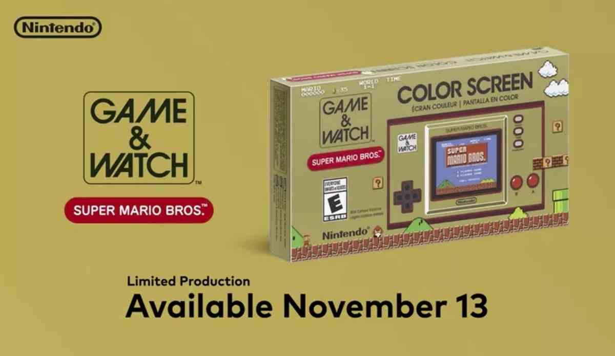 Nintendo lanzará una edición especial de su clásico Game & Watch por su 35º aniversario